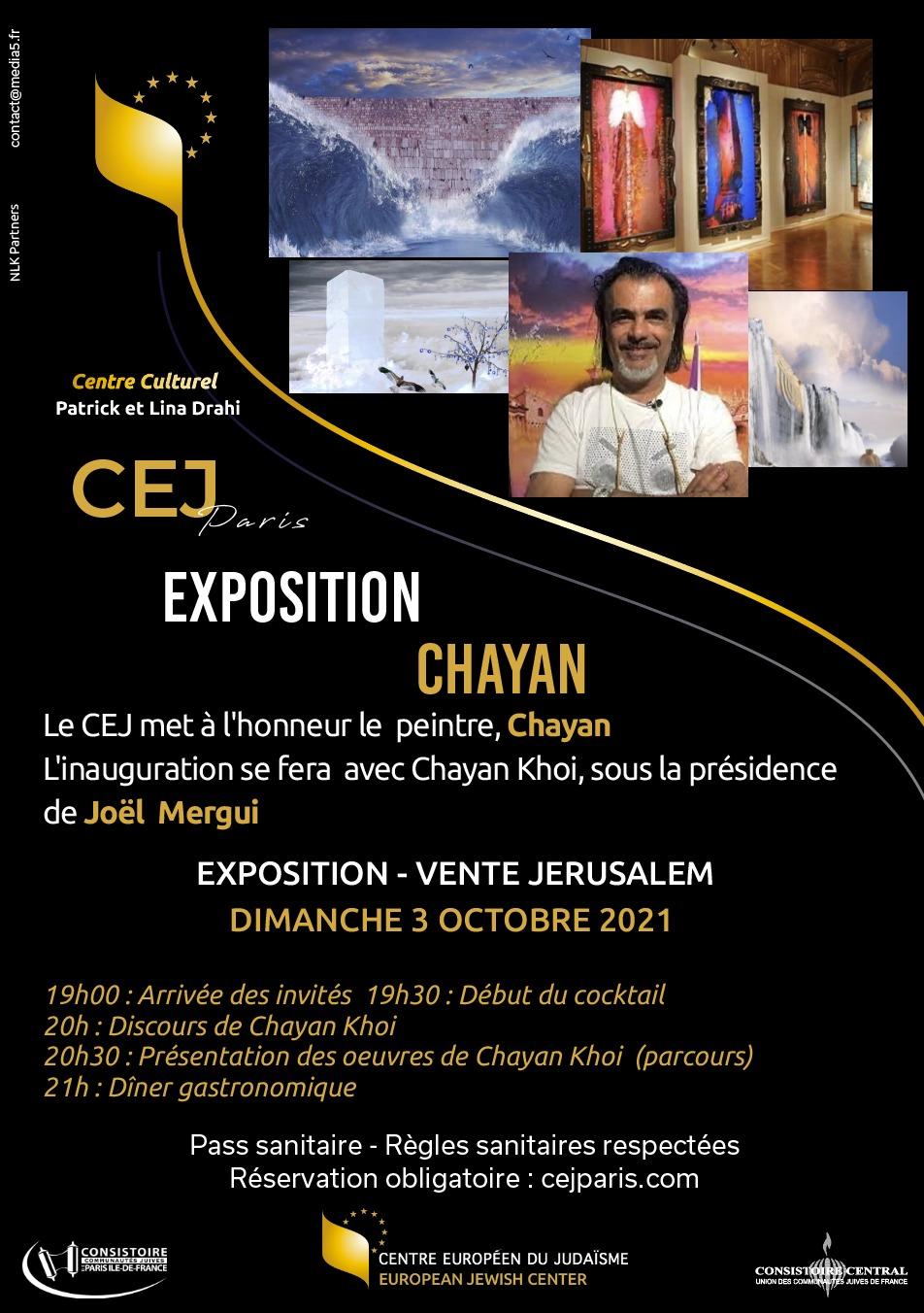 Vernissage de l'exposition du peintre CHAYAN
